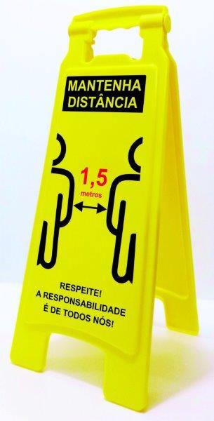 Cavalete de sinalização covid 19