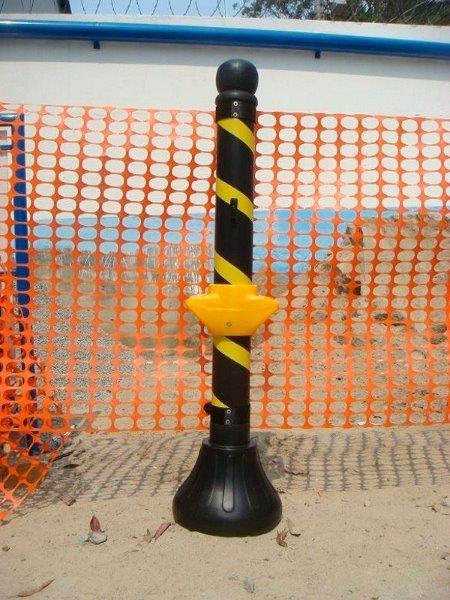 Pedestal plástico zebrado