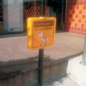 Pedestal estacionamento para cachorro